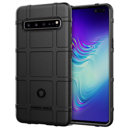 Anti-Shock Grid Texture Tough Case for Samsung Galaxy S10 5G - Black
